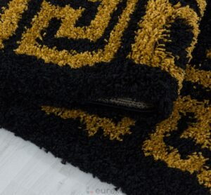dywan shaggy rzymski czarny